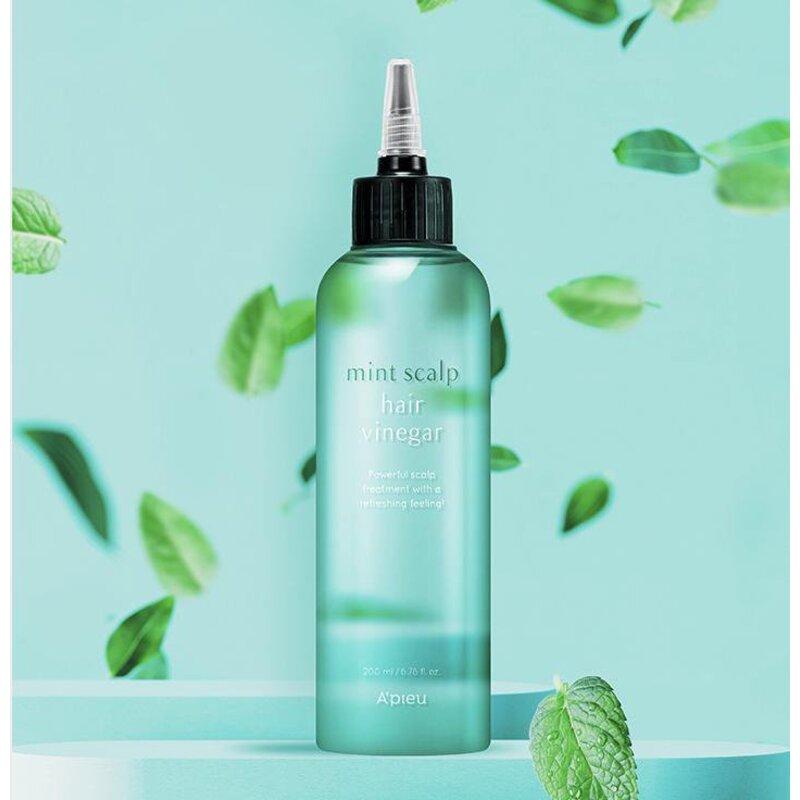 A'pieu Mint Scalp & Hair Vinegar – priemonė su mėtomis balansuojanti galvos odą